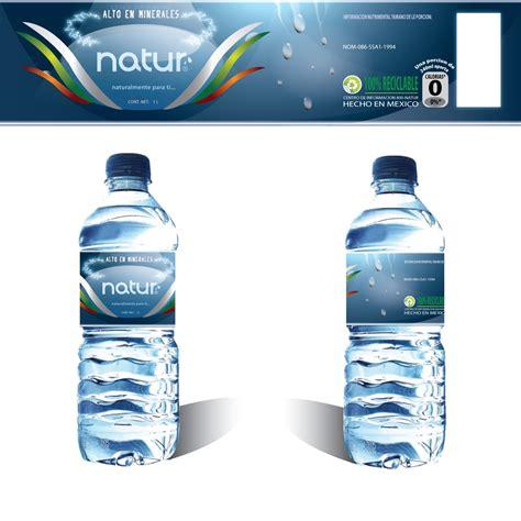 design water label natur water bottle label by garrett land at coroflot com