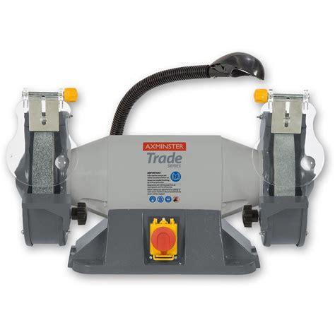 axminster bench grinder axminster trade series at8g2 heavy duty grinder bench grinders bench grinders