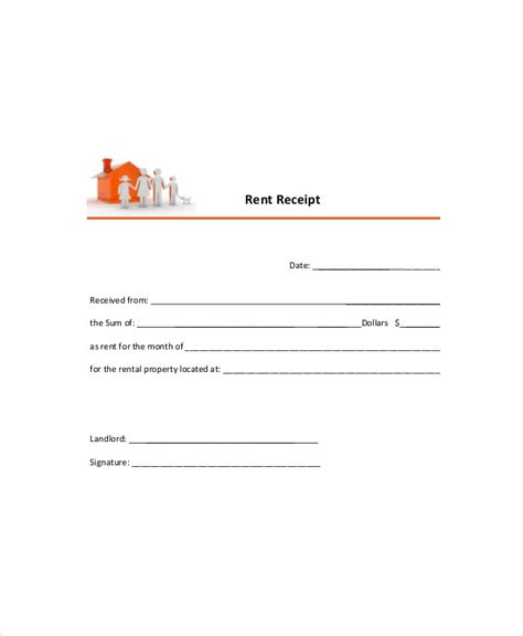 tenant receipt template rent receipt template 8 free word pdf documents