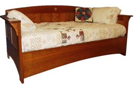 day bed plans arts and crafts mission day bed woodworking plan from wood