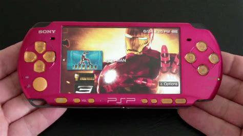 Psp Pink 8gb custom sony psp 3000 iron playstation