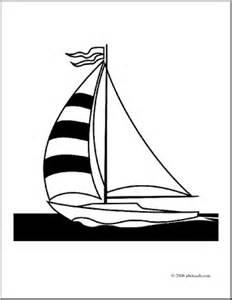 Clip Art Sailboat Coloring sketch template