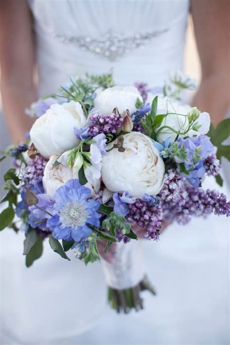 pretty in pink and purple on pinterest lilacs pretty bouquet of white peonies periwinkle scabiosa and
