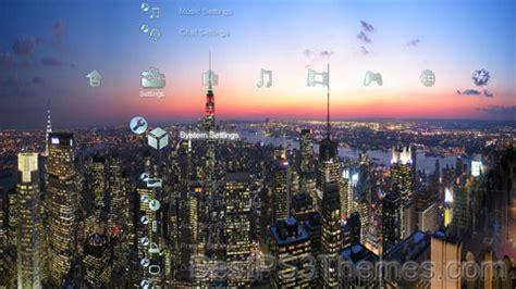themes of new york city new york city skyline best ps3 themes