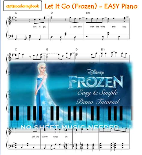 tutorial piano let it go let it go frozen easy piano tutorial and note