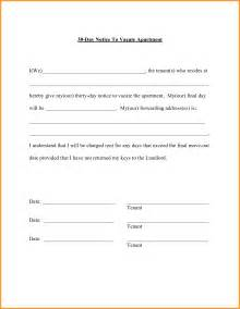30 day notice to vacate letter best business template