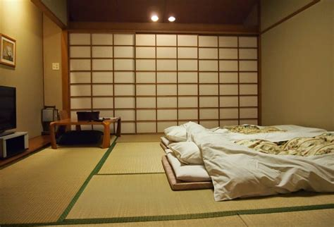 sleeping futon bedroom in japanese style