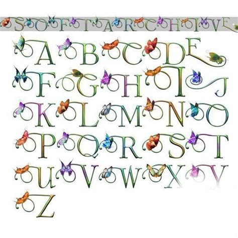 lettere alfabeto decorative mondolollo lettere alfabeto decorative a z