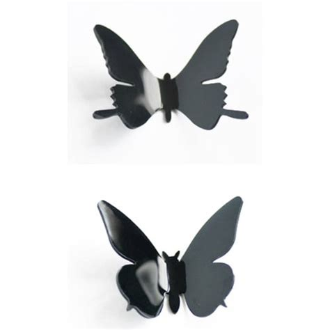 black 3d butterfly decal wall 12pcs 3d butterfly wall stickers decor decorations