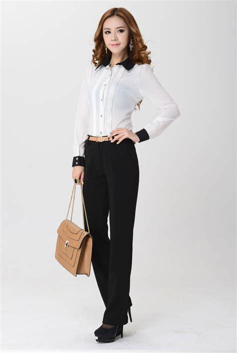 Kemeja Wanita Kantoran Lengan Panjang kemeja kerja wanita import putih lengan panjang model