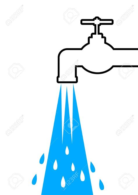 Water Faucet Vector by Running Water Tap Clipart 54