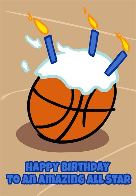 printable birthday cards basketball birthday card free printable basketball greeting card
