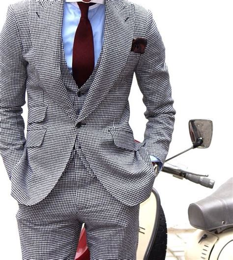 pattern shirt with dark gray suit grey patterned suit blue shirt and burgundy tie