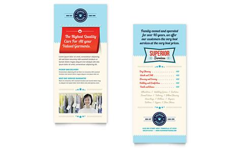 custom design rack card templates laundry services rack card template design