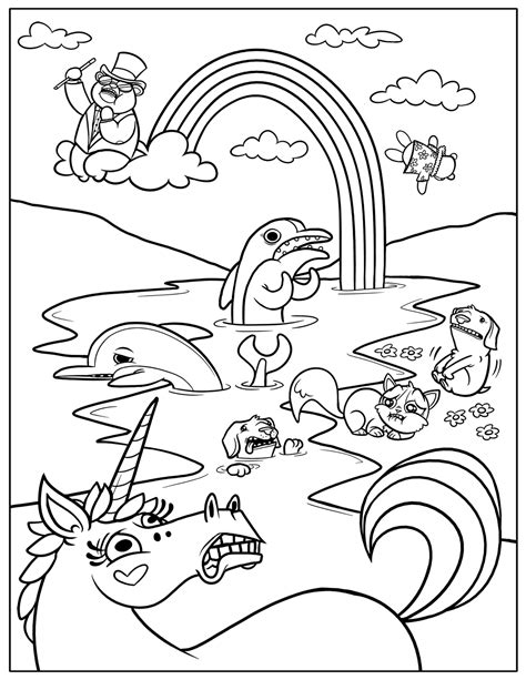 printable coloring pages for kids free printable rainbow coloring pages for kids
