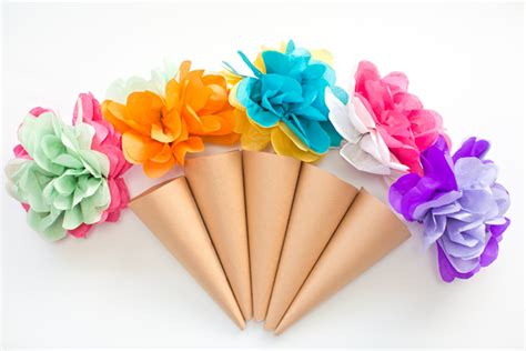 How To Make Paper Cones For Flowers - hello wonderful make tissue paper cone flowers