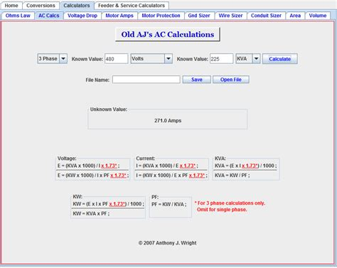 ac resistor power calculation ac voltage electrical power 3 phase kva power factor ac current