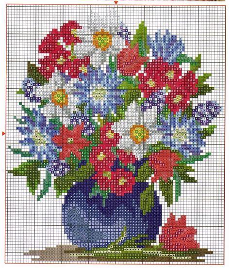 bordados rosas fasnta graficos punto de cruz gratis flores 27