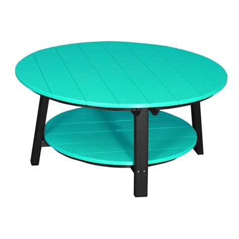 Outdoor Poly Deluxe Round Conversation Coffee Table Coffee Table Outdoor