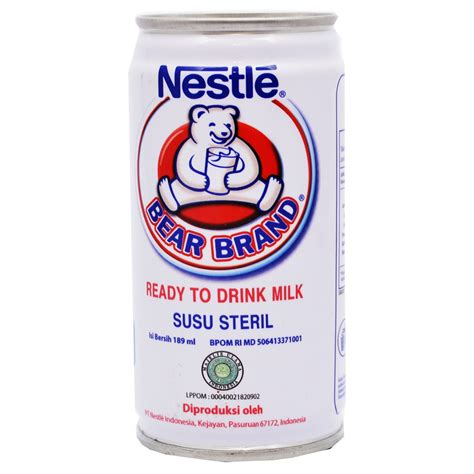 Brand Nestle 189ml Beruang jual nestle brand stertilized milk ready to drink tin