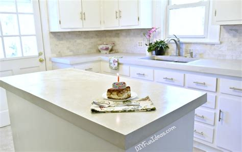 Concrete Countertops Ta by Gorgeous Budget Kitchen Makeover With White Concrete