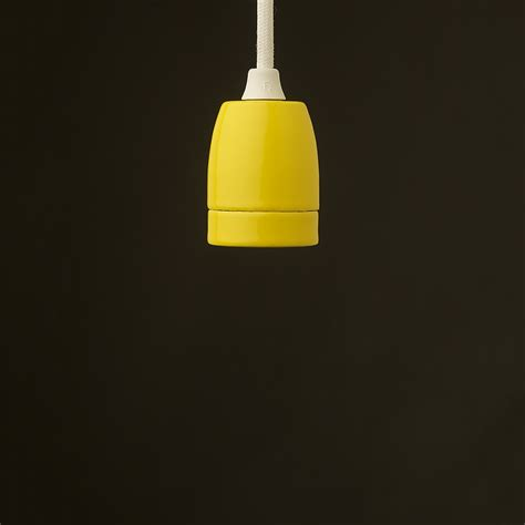 Yellow Pendant Light E27 Yellow Porcelain Pendant