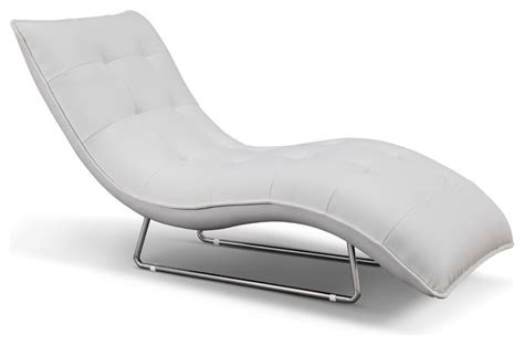 white leather chaise lounge indoor jerry chaise white faux leather stainless steel legs