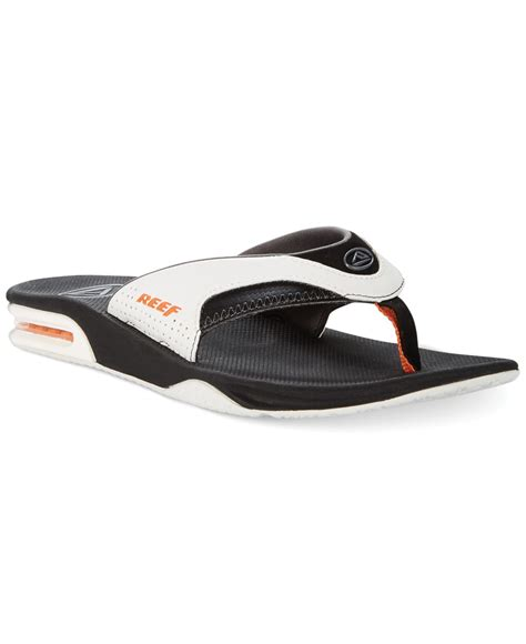 reef sandals with bottle opener reef fanning sandals with bottle opener in white for