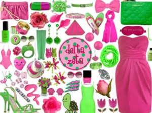 aka colors sorority colors pink and green delta zeta alpha kappa