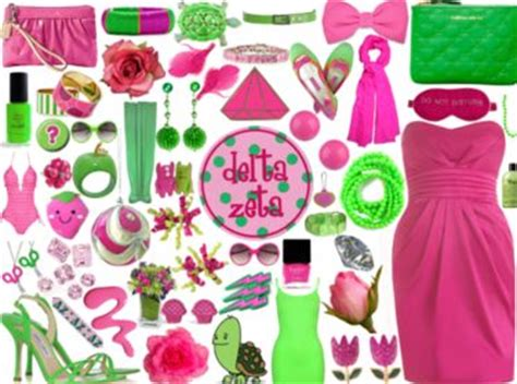 aka sorority colors sorority colors pink and green delta zeta alpha kappa