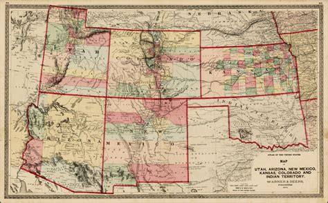 map of texas new mexico and colorado map of utah arizona new mexico kansas colorado and indian territory 1872 barry