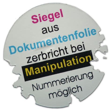 Eigene Aufkleber Drucken Lassen by Sicherheitsaufkleber Garantiesiegel Siegelmarke