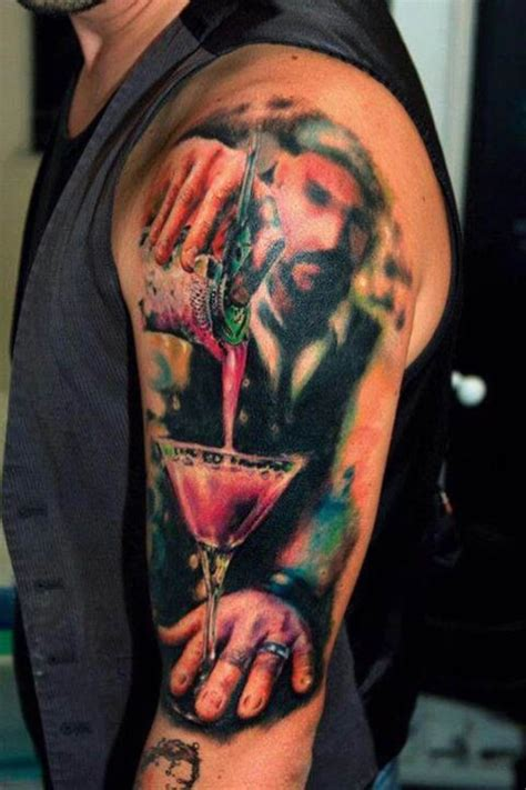 bartender tattoos damn this is me thirsty inked inkedmag