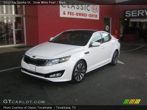 Kia Optima 2012 White Snow White Pearl 2012 Kia Optima Sx Black Interior