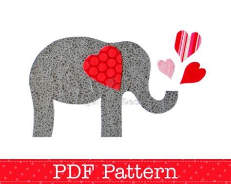 elephant applique pattern pdf template
