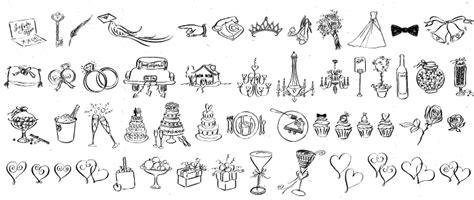 Wedding Font Dingbats by Debi Sementelli Type Foundry
