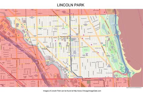 lincoln park chicago map chicago community area maps