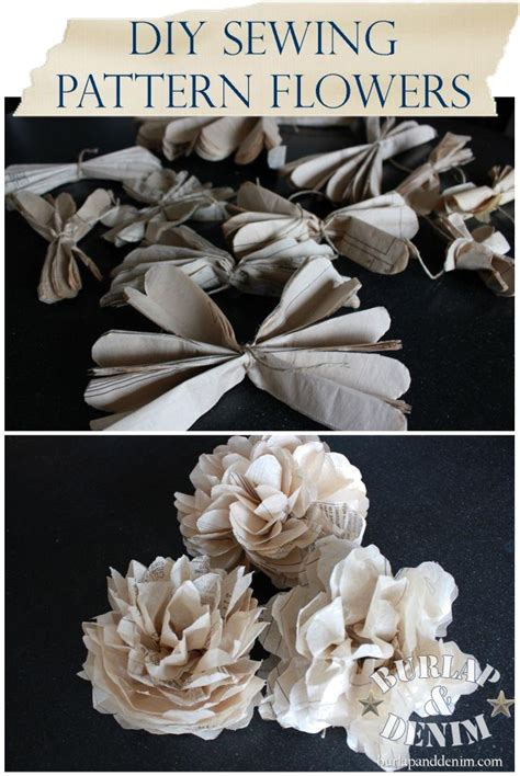 pattern for tissue paper flowers tutorial tissue paper flowers from sewing patterns