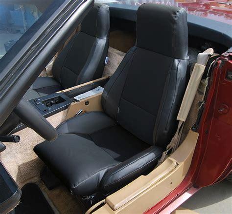 chevy corvette c4 standard 1984 1993 black leather like