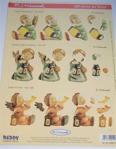 Step By Step Decoupage - foil play a4 step by step 3d hummel decoupage figures