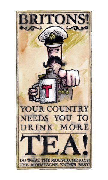 steampunk tea advert buy  amazing tea  www
