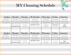 daily house cleaning schedule sales report template