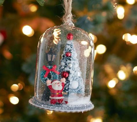 santa cloche ornament pottery barn