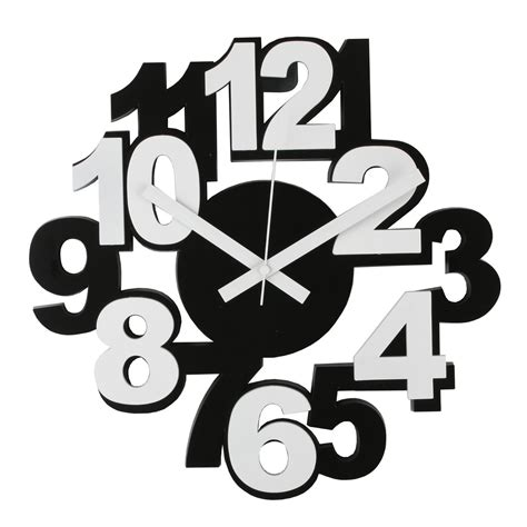 Funky Wall Clocks by Modern Funky Black Amp White Wall Clock