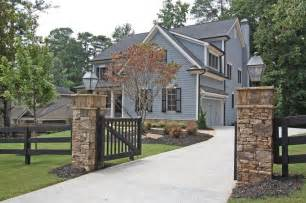 Front Yard Brick Fence Designs - stone columns and fence rock pillars pinterest