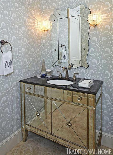 elegant wallpaper  powder room gallery