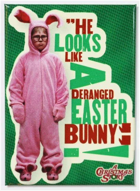 christmas story deranged easter bunny fridge magnet