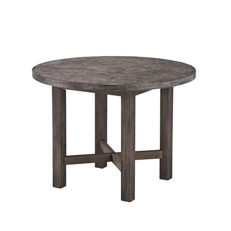 styles of dining tables home styles concrete chic round patio dining table 5134 30 the home depot