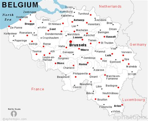 map of belgium with cities belgium cities map
