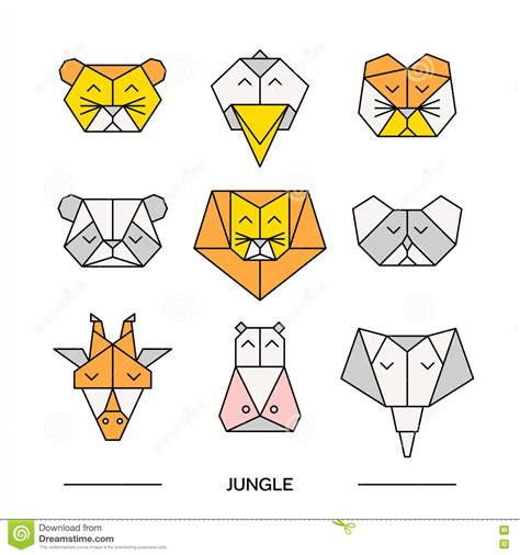 Origami Jungle Animals - origami jungle animals comot
